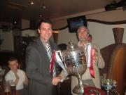 Ben Williams 1st team Manager receives the magnificent North West Counties Cup 2007/08
